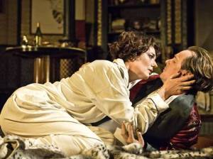 Anna Chancellor and Toby Stevens as Amanda and Elyot
