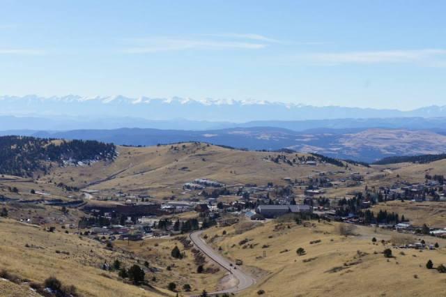 Overlooking the sleepy gold mine town of Cripple Creek