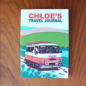 Personalised Travel Journal, by SUKIE £14.95