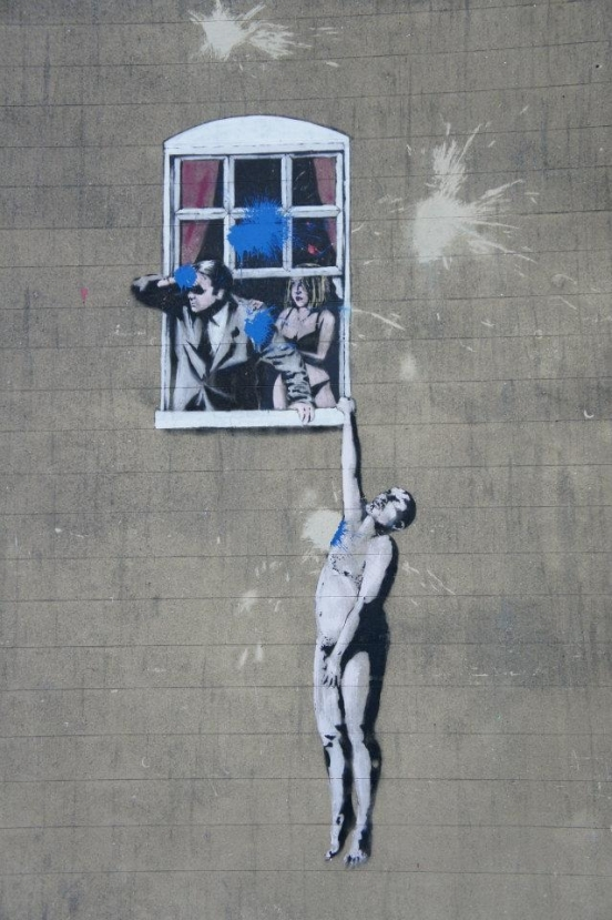 An original Bansky I snapped on Park Street in Bristol